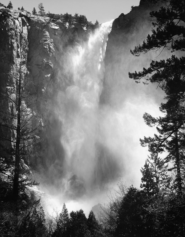 Ansel Adams Photo of Bride Veil Falls
