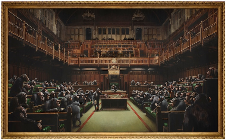 Devolved Parliament por Banksy