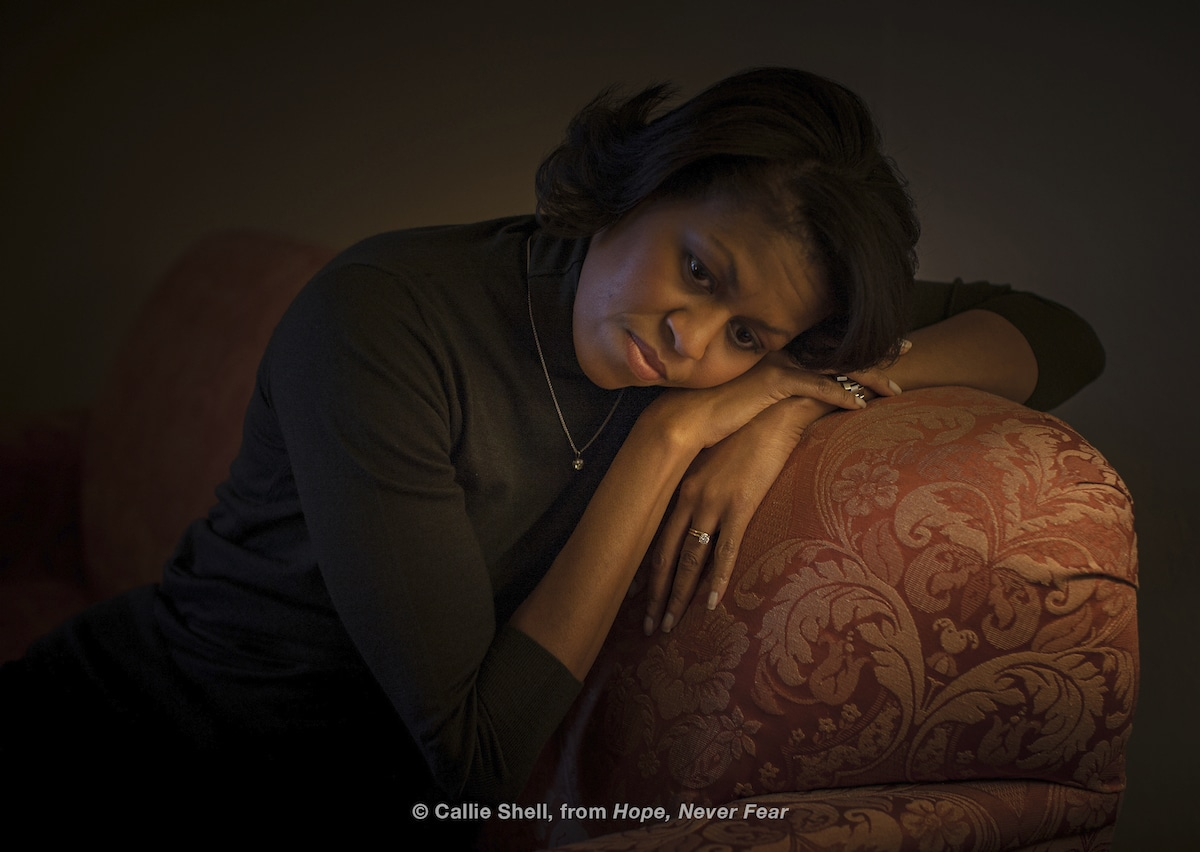 Candid Photo of Michelle Obama by Callie Smith
