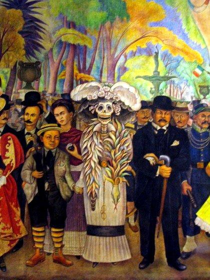 Sueño de una tarde dominical en la Alameda Central de Diego Rivera