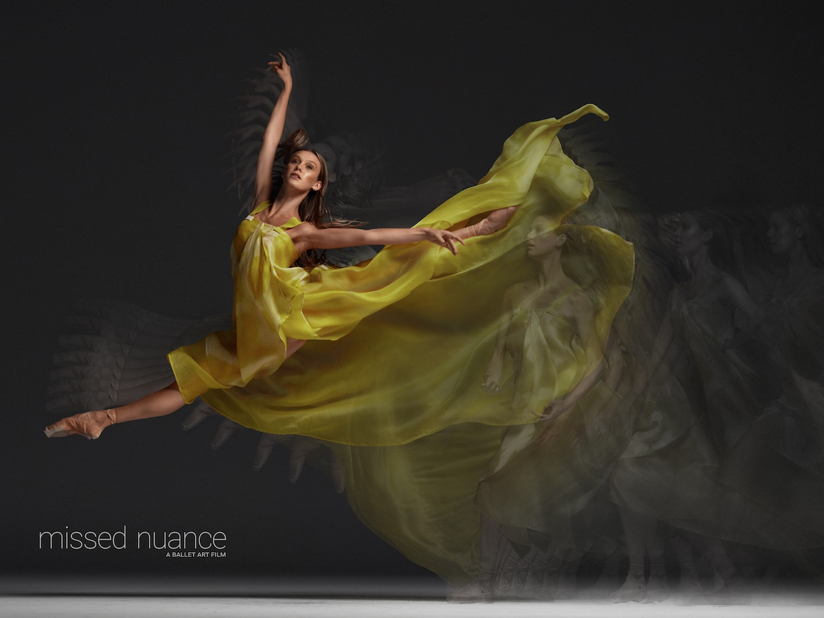 Bailarina Zoe Cavedon en la película de ballet de Niv Nova