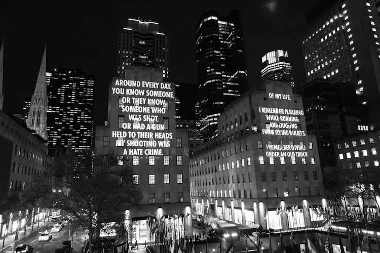 Socially Conscious Public Art by Jenny Holzer