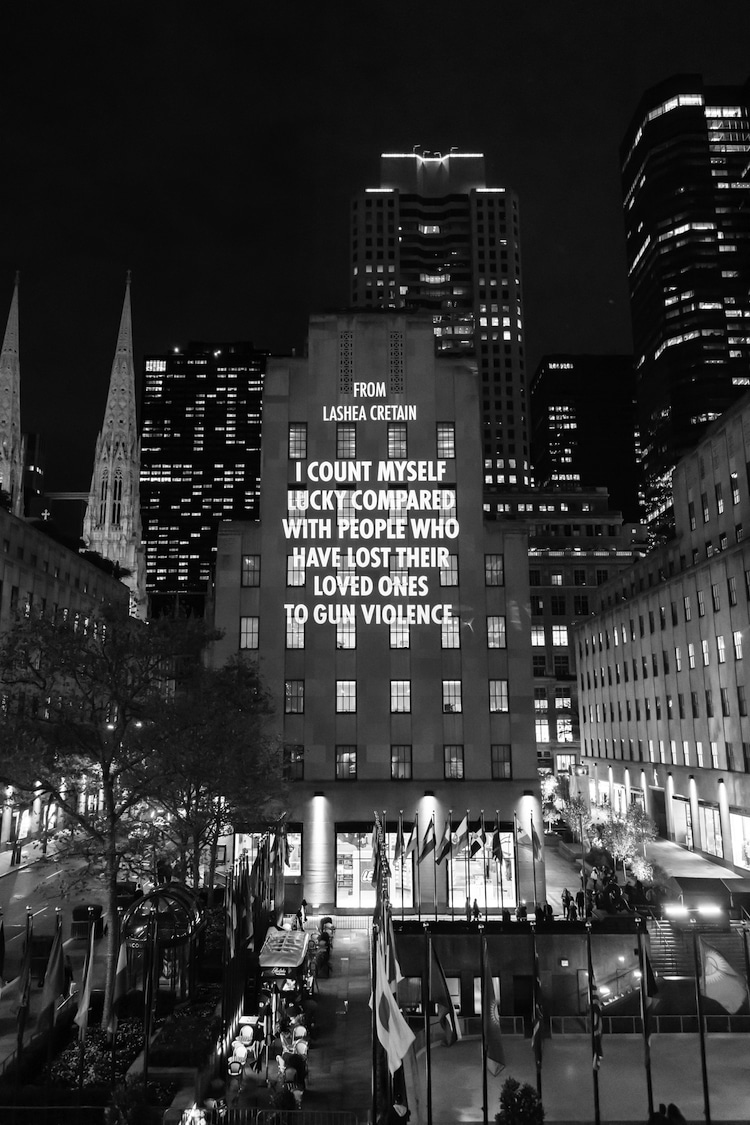 Light Projection at Rockefeller Center by Jenny Holzer