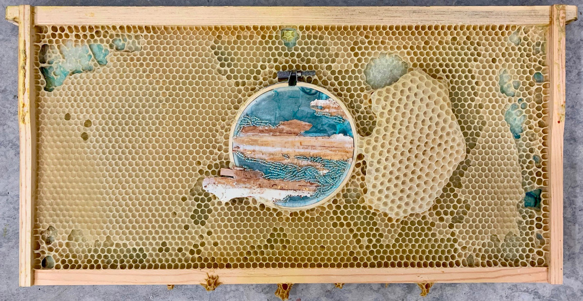 Mixed Media Art by Ava Roth and Honeybees