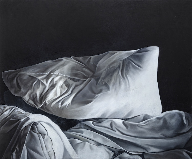 Bed Sheet Oil Paintings by Stephanie Serpick