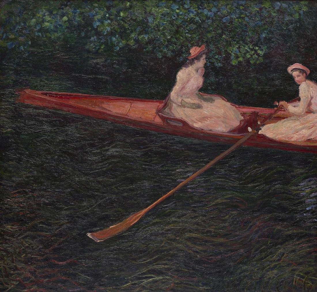 Cuadro de la exposición de Monet en el Museo de Arte de Denver