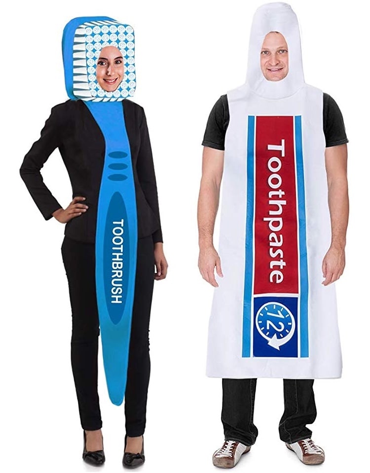 Toothbrush and Tooth Paste Costume