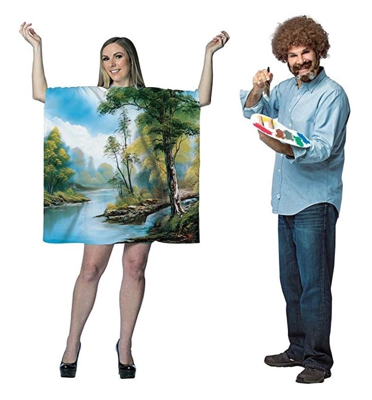 Bob Ross and Painting Halloween Costume for Couples