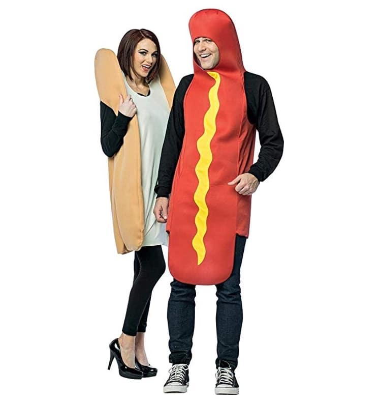 Hot Dog and Bun - Funny Couples Costume