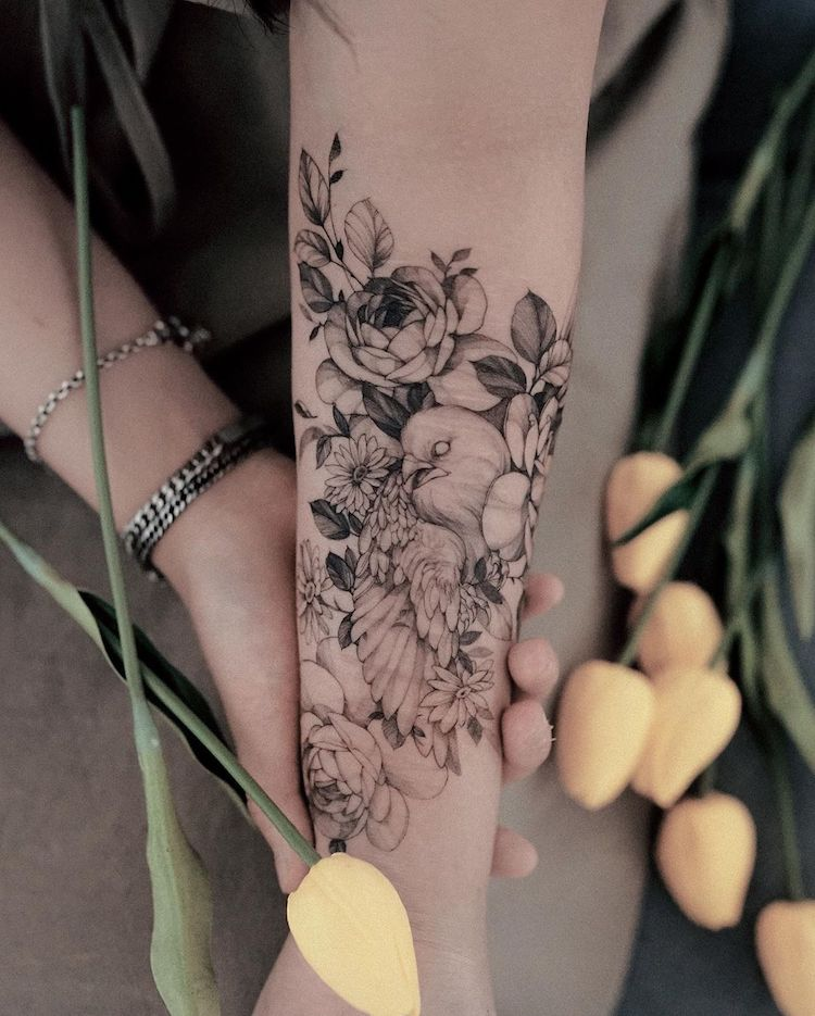 Line Tattoos by Zihwa