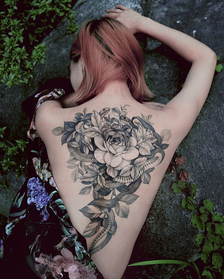 Fine-Line Tattoos by Zihwa