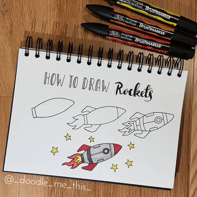 como dibujar una nave