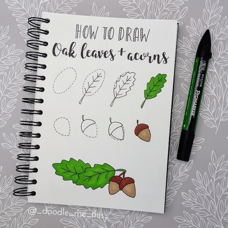 como dibujar hojas