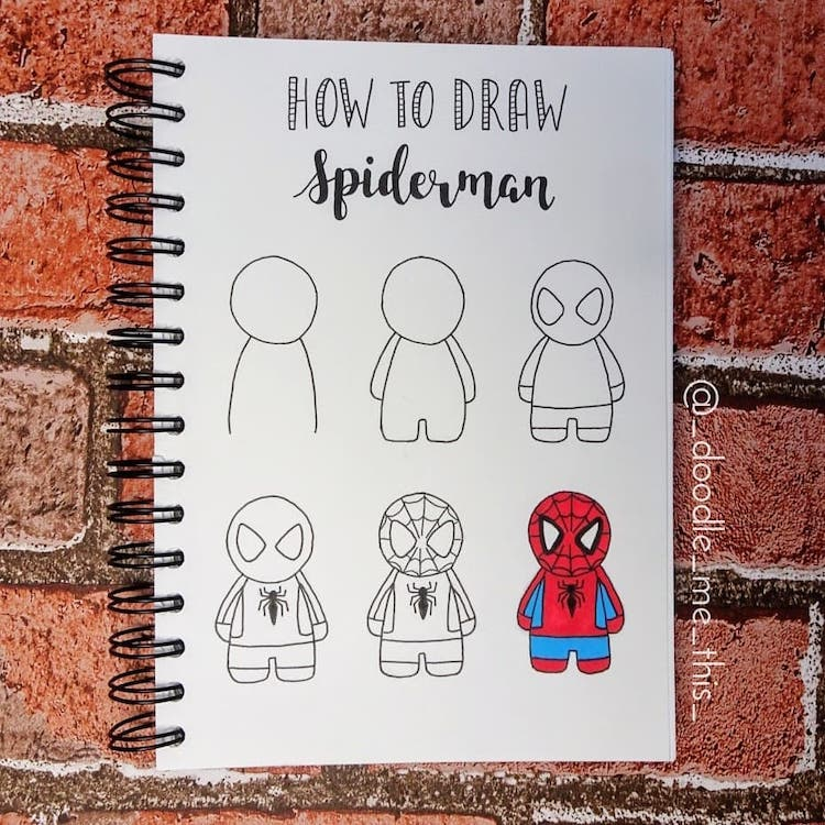 como dibujar spiderman