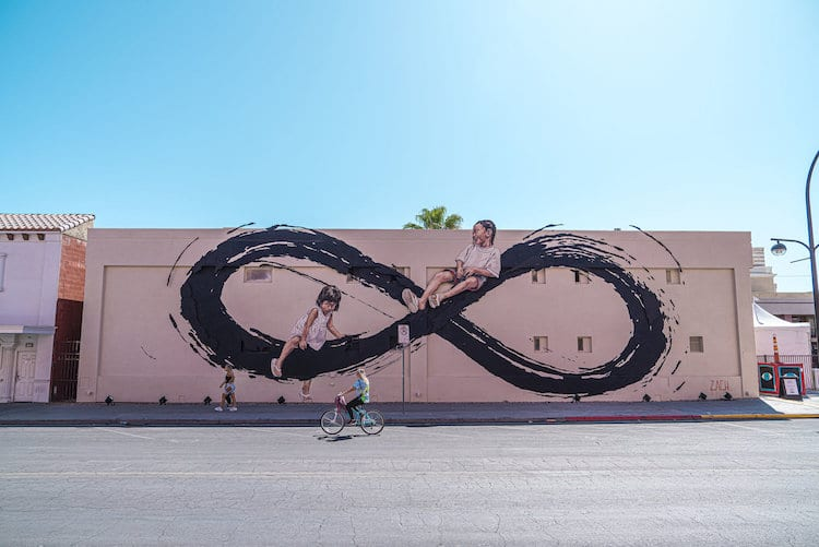 Ernest Zacharevic for Life Is Beautiful in Las Vegas