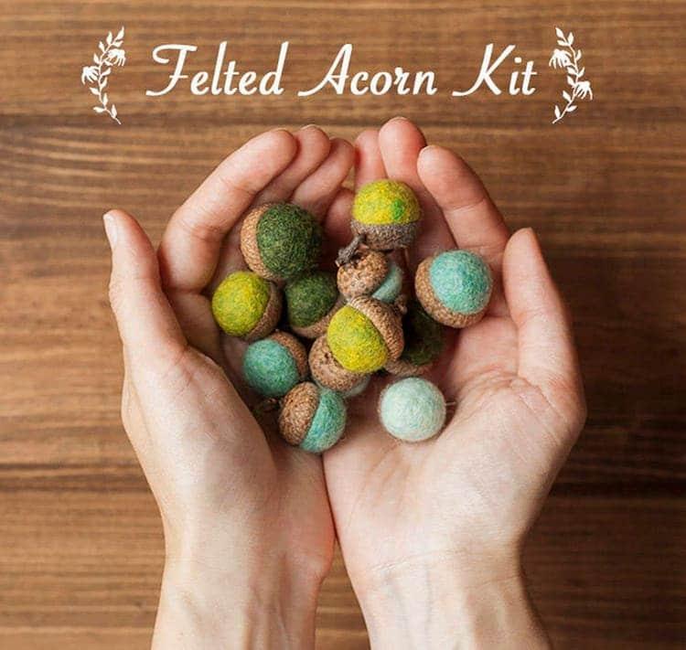 Felted Acorn Kit
