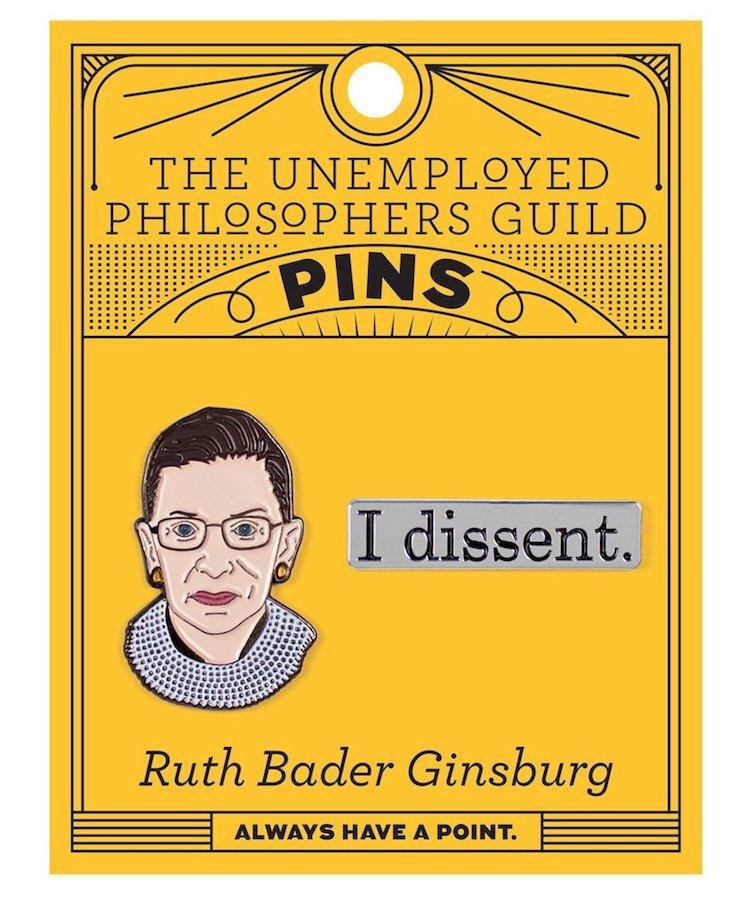 Ruth Bader Ginsburg Pin