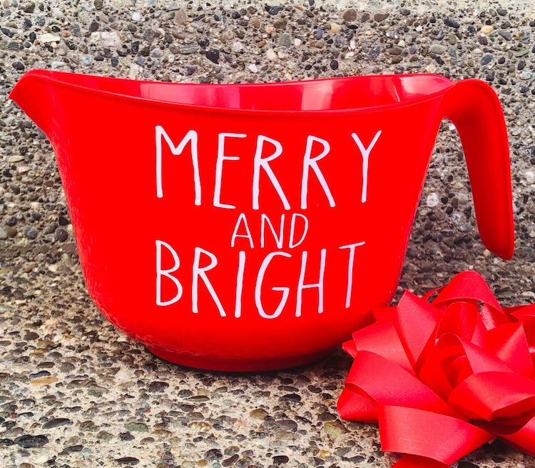Merry and Bright Measuring Cup
