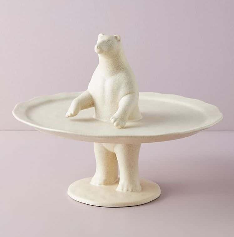 Plato para servir postres de oso