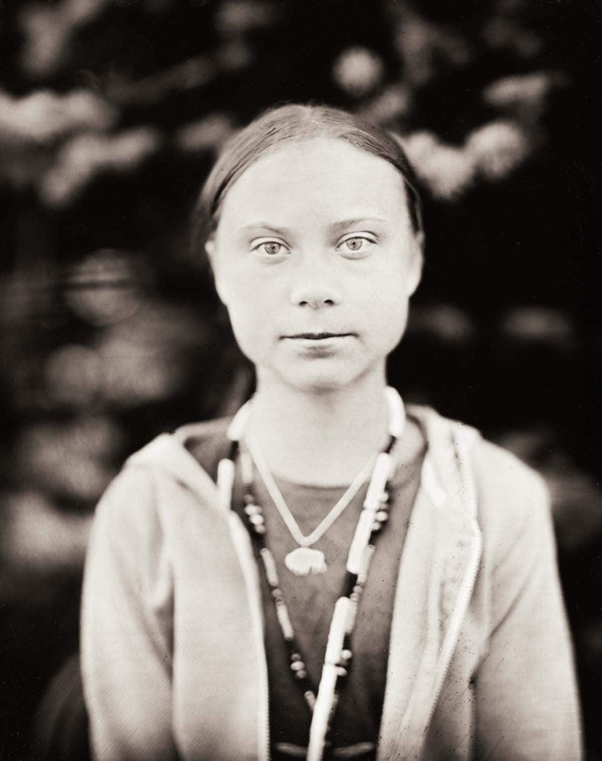 Portrait of Greta Thunberg by Wet Plate Photographer Shane Balkowitsch