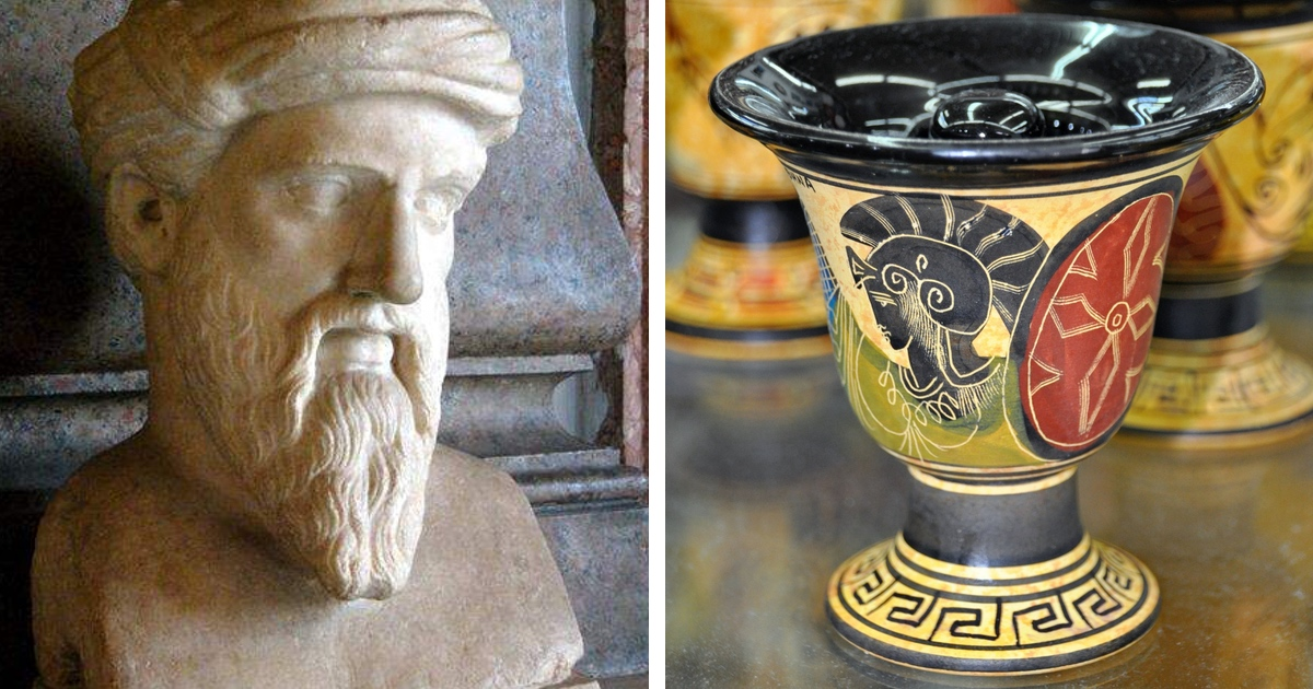 """This """"Normal"""" Drinking Glass Is Actually an Ancient Greek Party Prank"""
