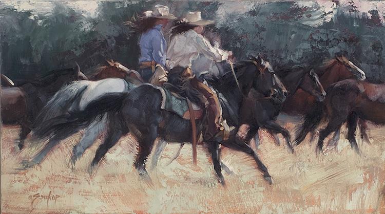 Pinturas de caballos de Jill Soukup