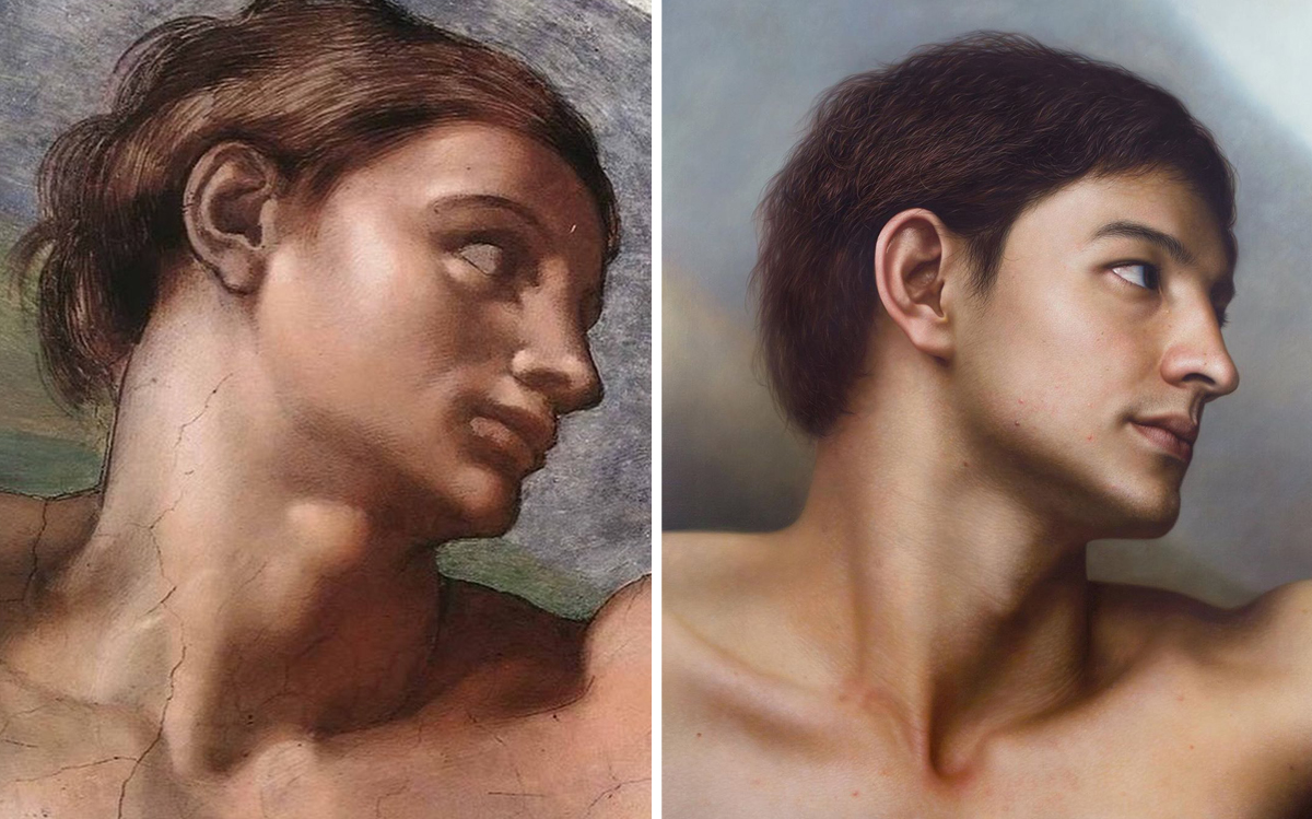 Famous Figures Repainted by Joongwon Jeong