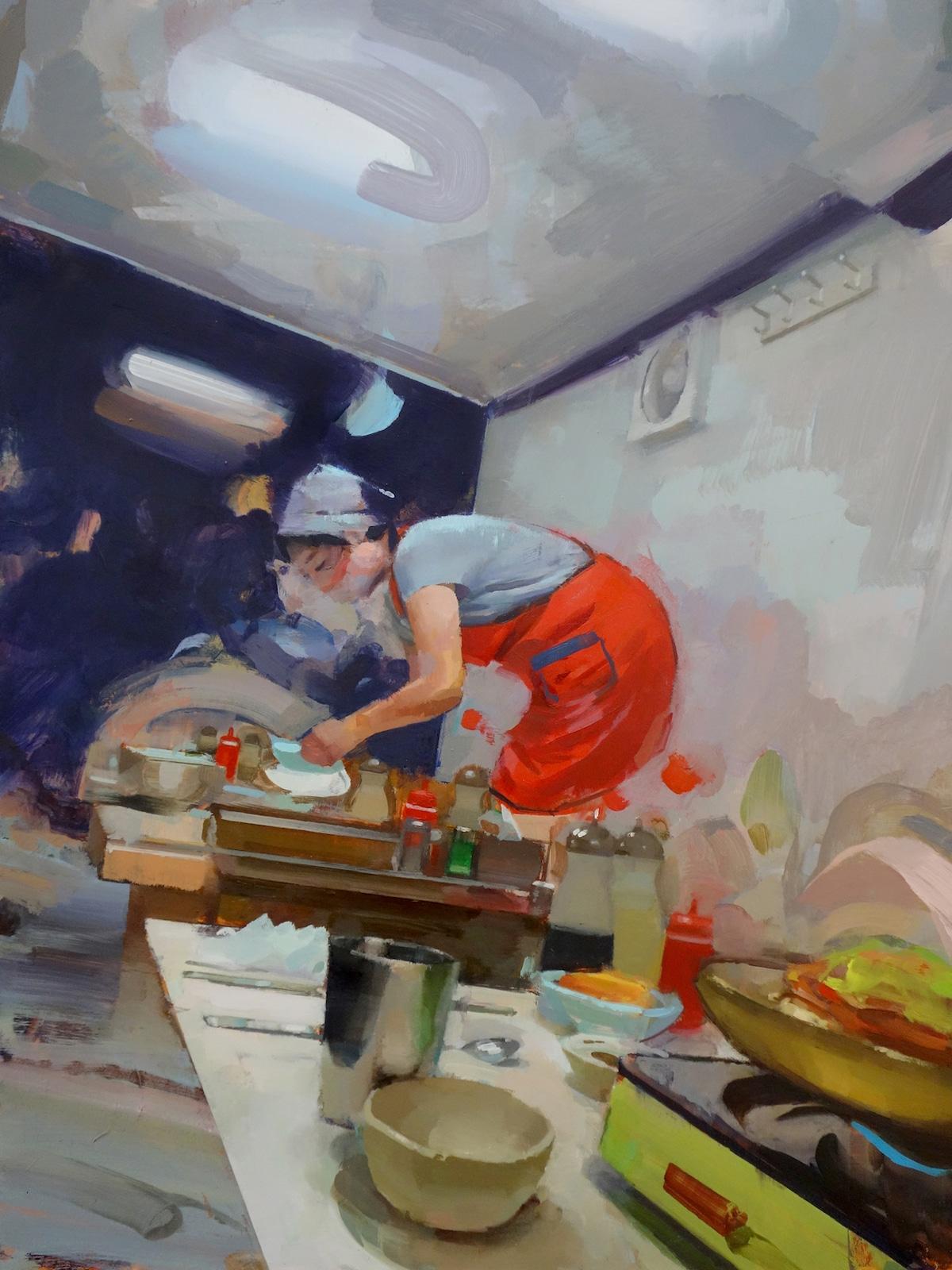 Pintura al óleo de Corea por Mike Ryczek
