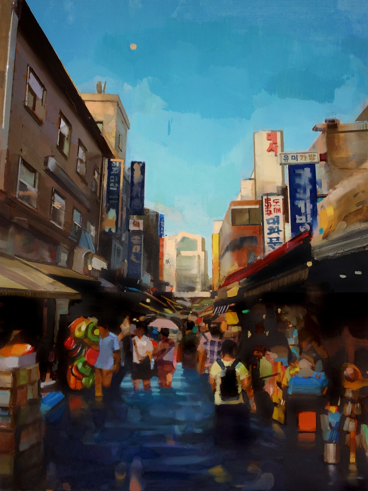 Pinturas al óleo de Corea por Mike Ryczek
