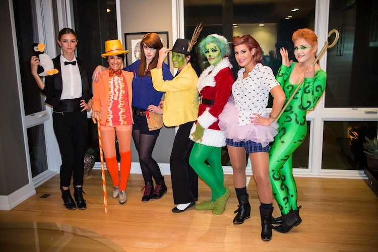 Large Group Halloween Costumes of Jim Carrey
