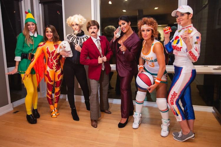 Large Group Halloween Costumes of Will Ferrell