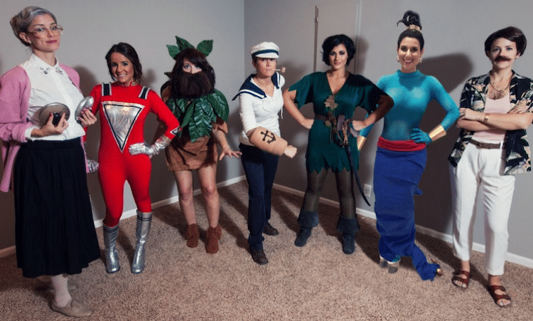 Large Group Halloween Costumes of Robin Williams