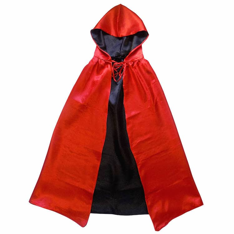 Reversible Red and Black Cape
