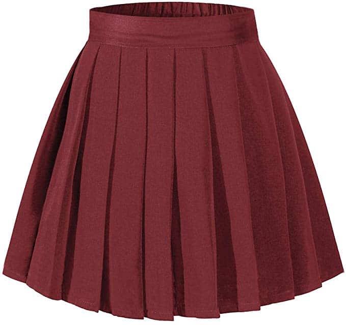 Short Pleated Skirt for Velma Costume