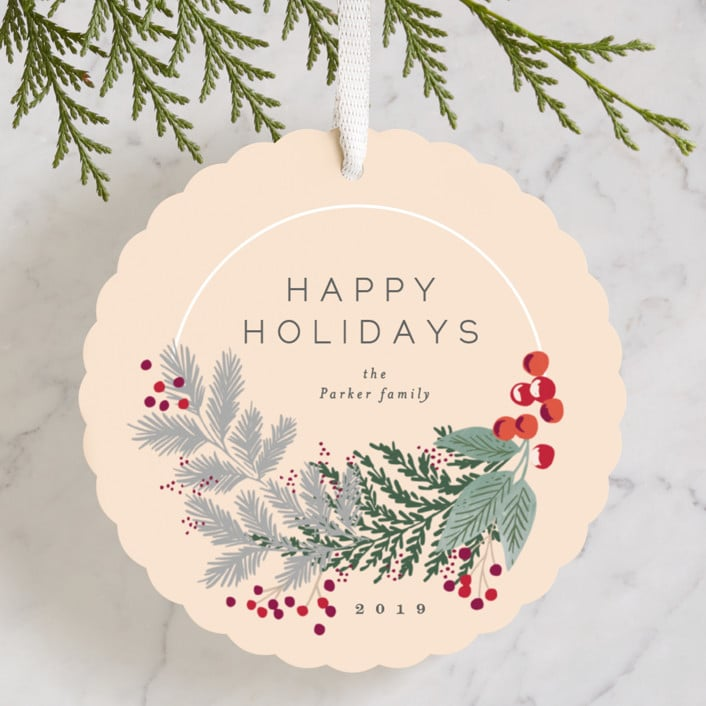 Minted Christmas Ornament Cards