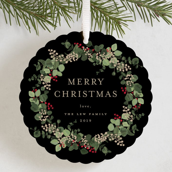 Minted Holiday Ornament Cards