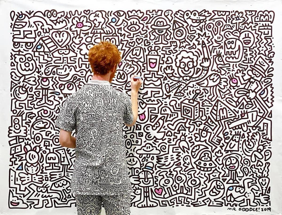 Mr. Doodle Drawing