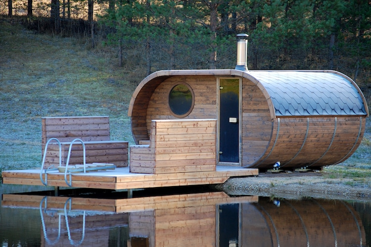 Outdoor Oval Sauna for Entertaining