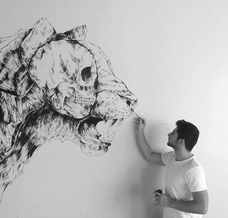 Pen and Ink Drawings by Alfred Basha