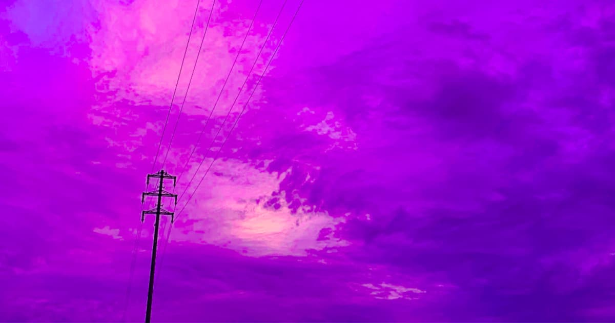 the sky turned electric purple before typhoon hagibis hit