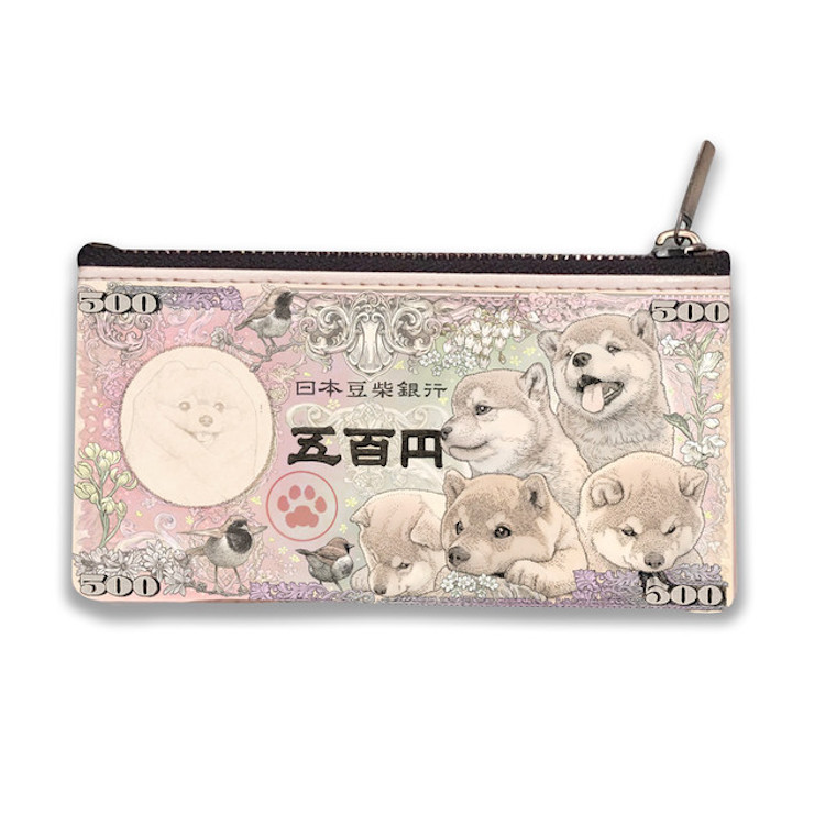 Shiba Inu Japanese Banknotes by Ponkichi