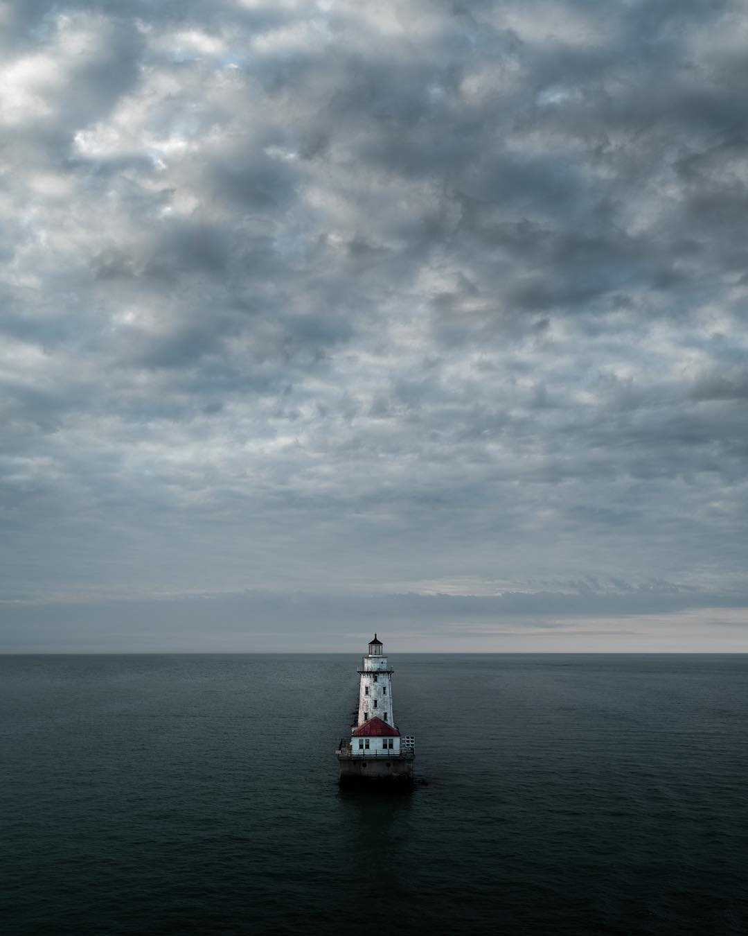 Drone Photo of a Lighthouse