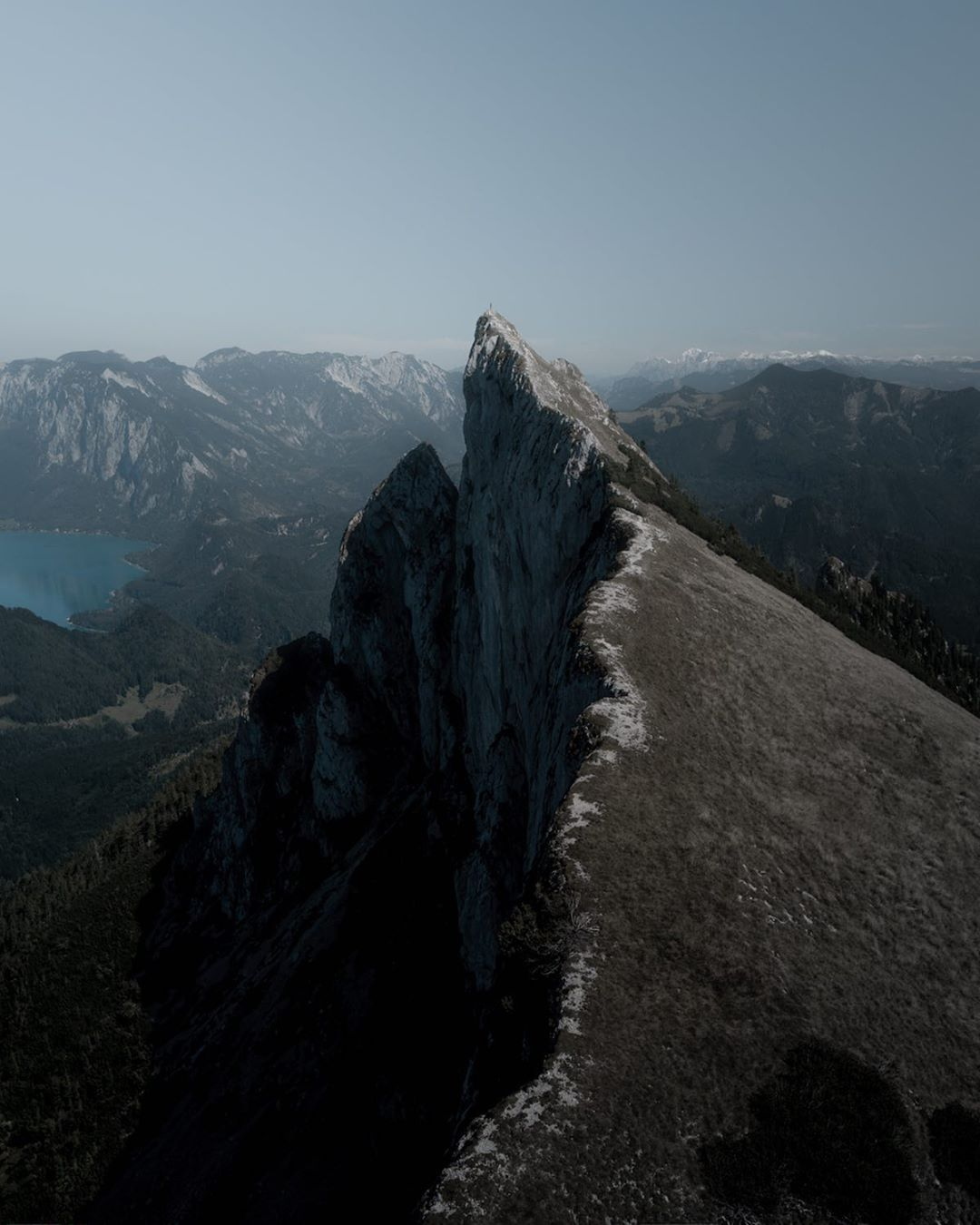 Mountain Peak Photographed with a Drone