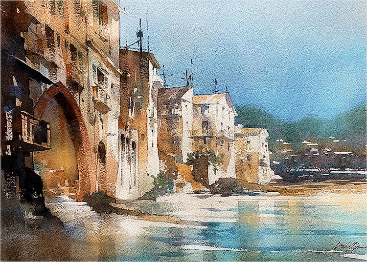 Watercolor Painting by Thomas Schaller