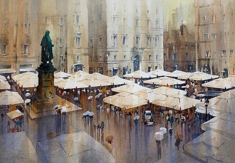 pinturas de ciudades
