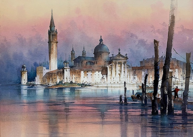 Watercolor Painting Architecture