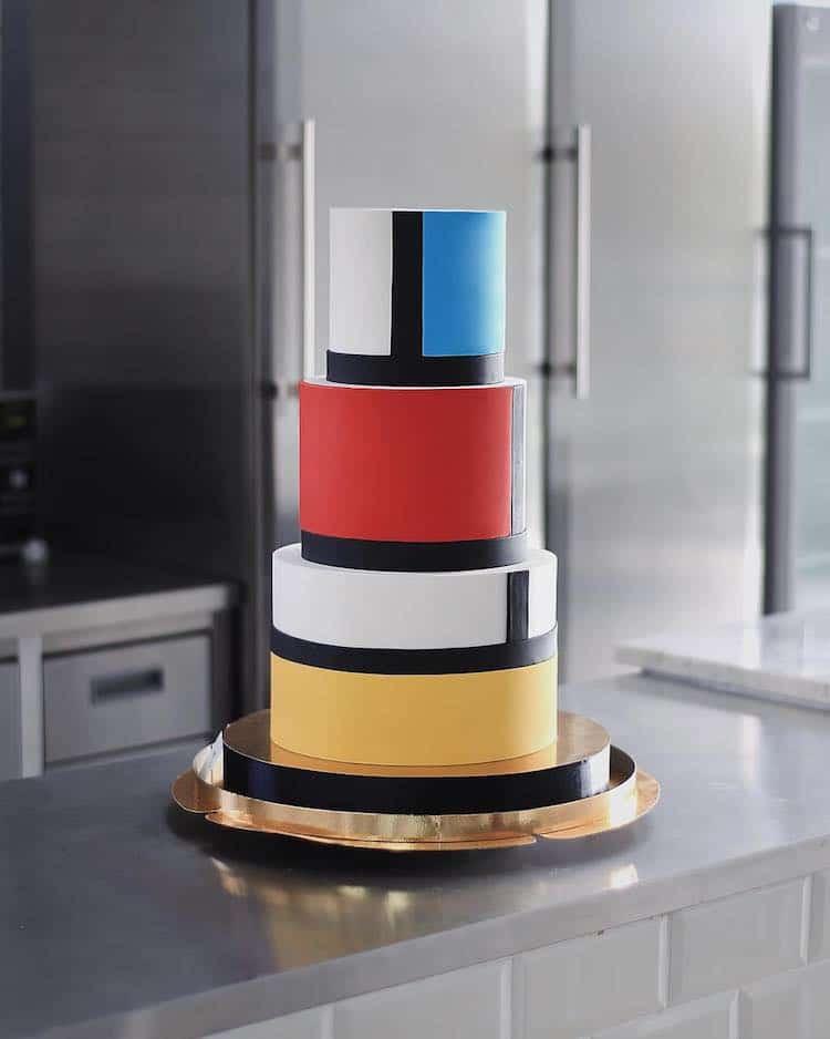 Mondrian Cake by Tortik Annushka