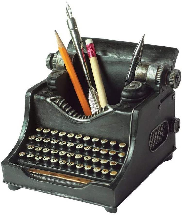 Typewriter Pencil Holder
