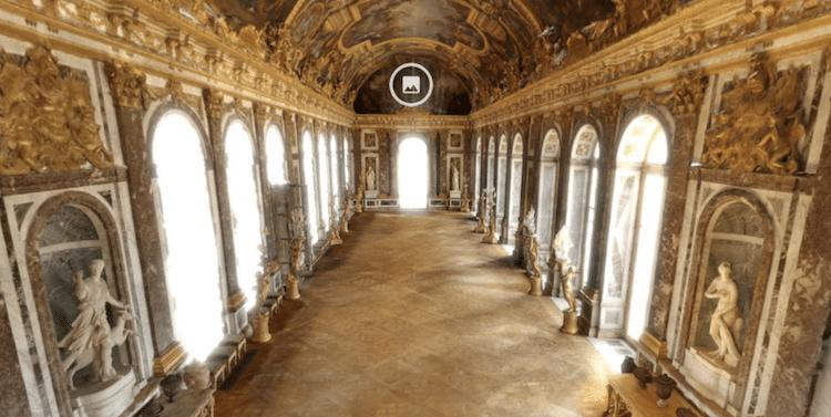 recorrido virtual palacio de versalles
