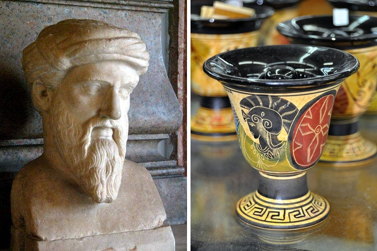 Bust of Pythagoras and His Cup of Justice
